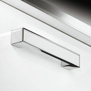 Möbelgriff, Glas und Metall