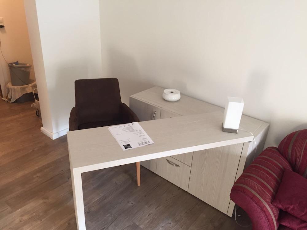 schrankbett mit schreibtisch innenausbau binder. Black Bedroom Furniture Sets. Home Design Ideas