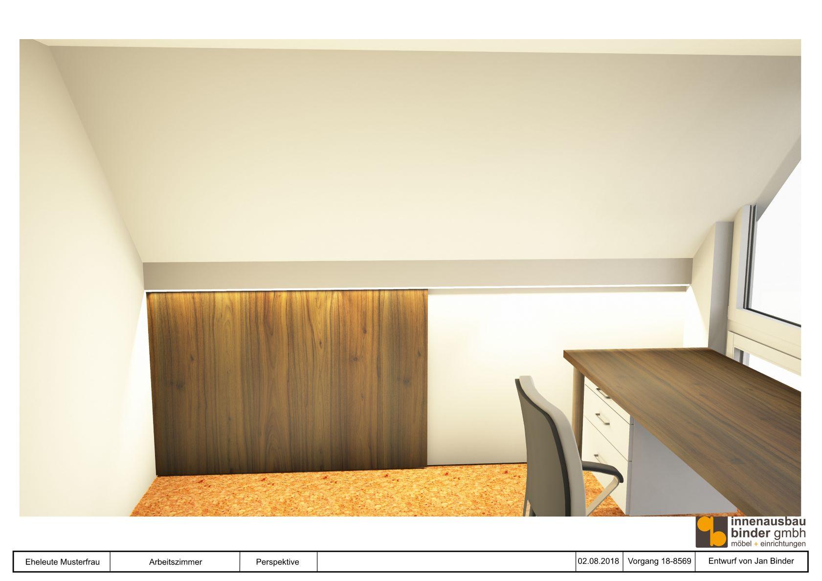 einbauschrank visualisierung innenausbau binder. Black Bedroom Furniture Sets. Home Design Ideas