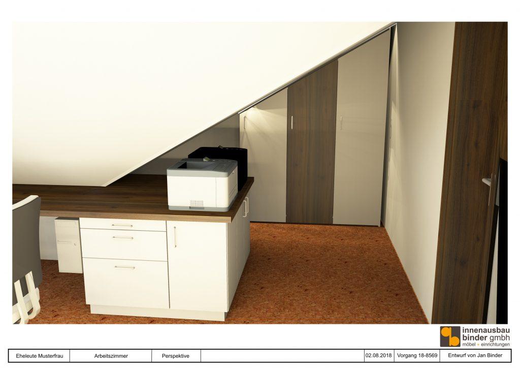 Arbeitszimmer Visualisierung