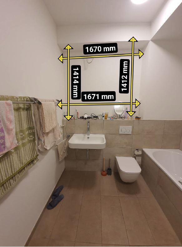 Aufmaß Badezimmer vorher