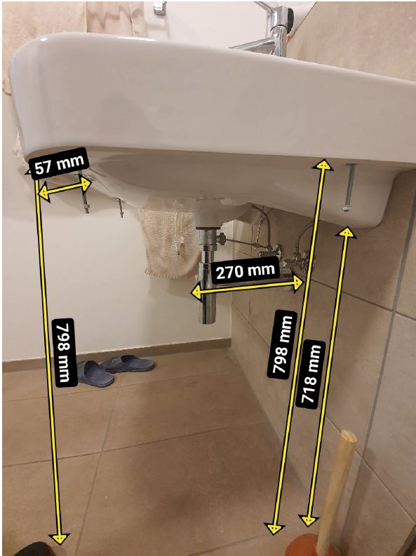 Aufmaß Badezimmer Waschtisch