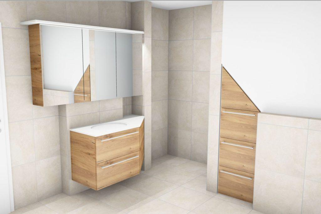 Bad unter der Dachschräge | Innenausbau Binder