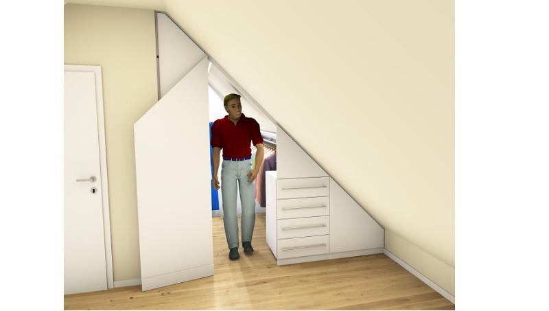 Entwurf Dachschrägenschrank