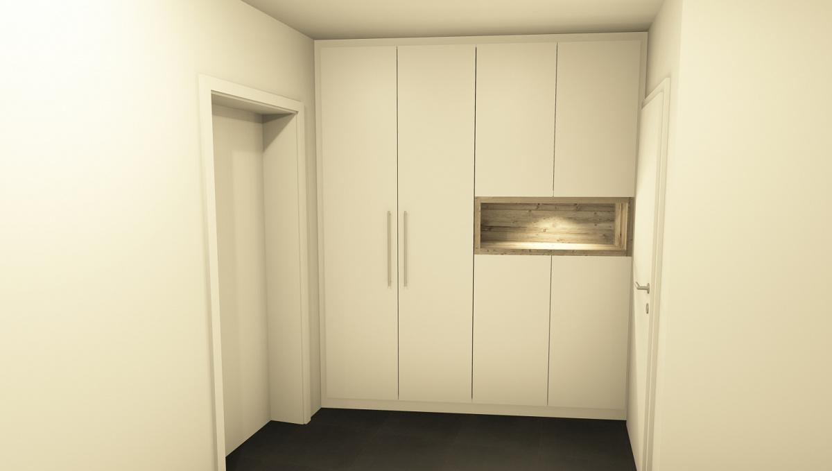 schrank von wand zu wand innenausbau binder. Black Bedroom Furniture Sets. Home Design Ideas