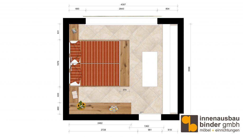 Grundriss Entwurf Schlafzimmer