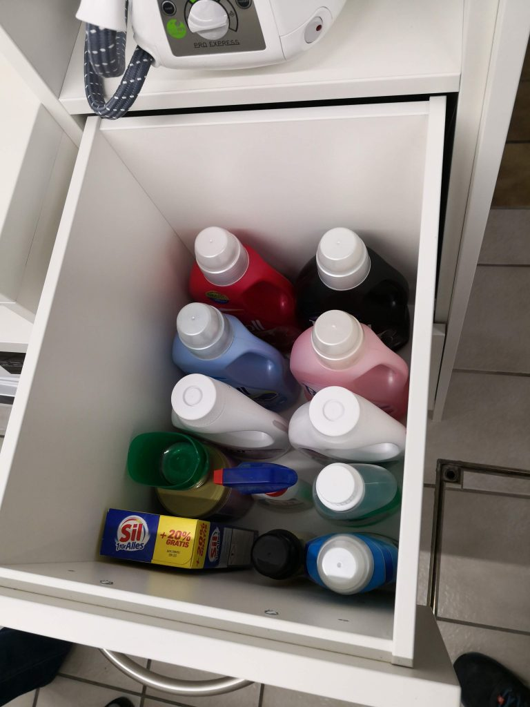 Schublade für Waschmittel