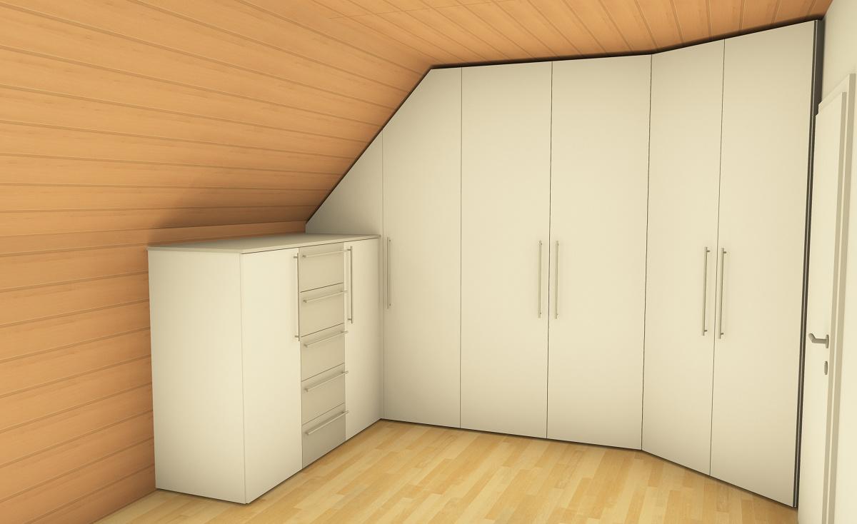 Einbauschrank Visualisierung Innenausbau Binder