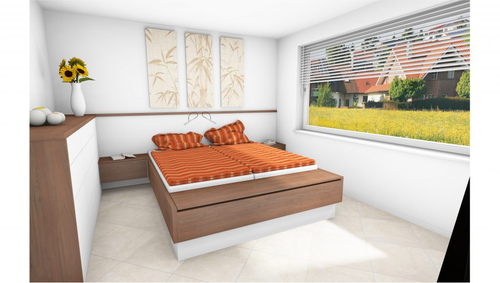 Entwurf Schlafzimmer nach Maß