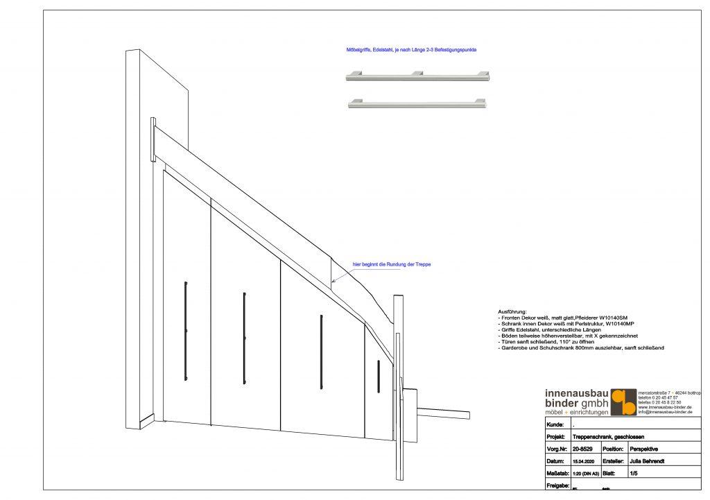 Treppenschrank Zeichnung