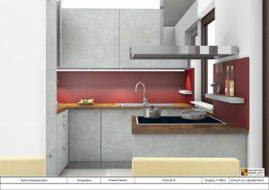Küche in kleinen Räumen